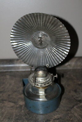 Antique Oil Kerosene Wall Lamp With Reflector Tin Back By Flame Light no chimney