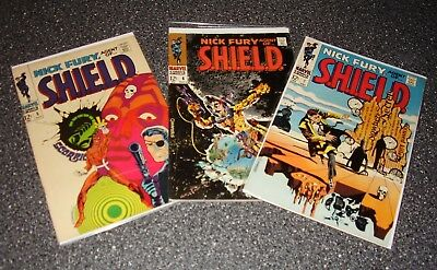 Marvel NICK FURY, AGENT OF SHIELD No. 5, 6, 7 Lot (1968) Steranko! NICE!