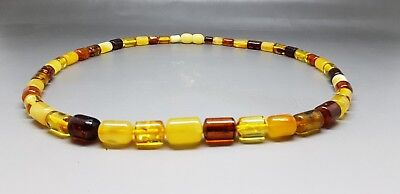 "18,1"" Beautiful Genuine Baltic Amber Necklace Beads for Men/Woman MIX Color"