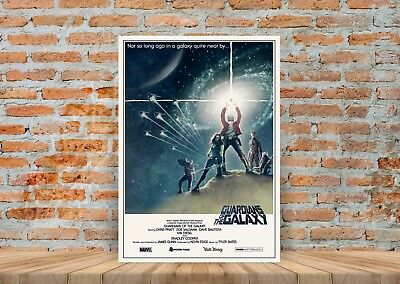 Guardians Of The Galaxy Star Wars Style Poster or Canvas Art Print - A3 A4 Sizes