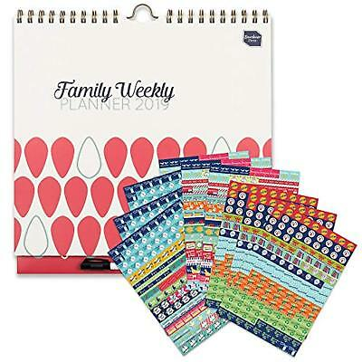 Family Weekly Planner calendario di famiglia 2018-2019 Boxclever Press con s