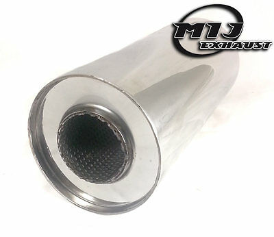 "5/"" x 2.25/"" x 10/"" Universal Steel Exhaust Silencer Stainless Back Box"