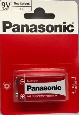 Pack of 10 of 9V Panasonic Heavy Duty Genuine Zinc Carbon 6F22 Block Batteries