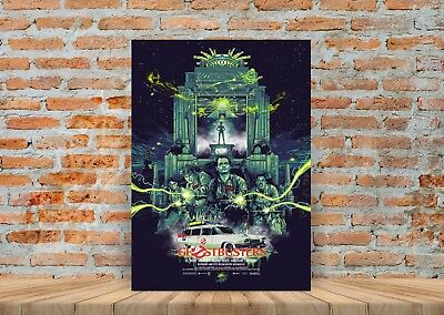 Ghost Busters Movie Poster or Canvas Art Print (Framed Option) - A3 A4 Sizes