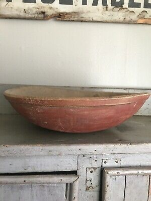 Early Old Primitive American Dough Bowl