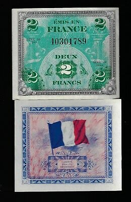 1 EA 1944 France 2 Francs Allied Military Currency Pick 114 GEM UNC CONSECUTIVE