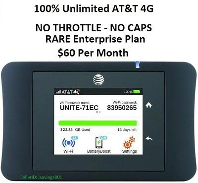 AT&T UNLIMITED DATA 4G Unite Pro 781S Internet Hotspot RV Rural 3 Day FREE Trial