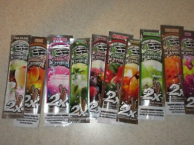 10 Pack Double Platinum Blunt Wraps Variety-Sample Pack