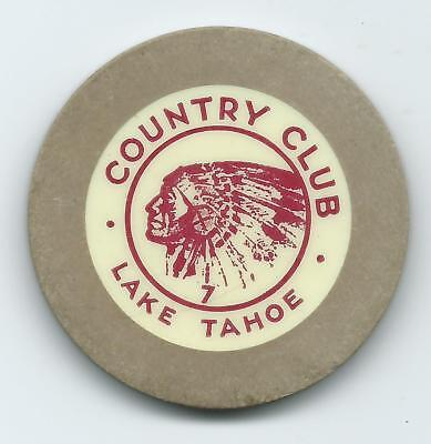 COUNTRY CLUB ROULETTE Chip    Lake Tahoe 1950s