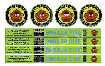 Gorilla Glue Cali Tin Labels (16 Stickers)