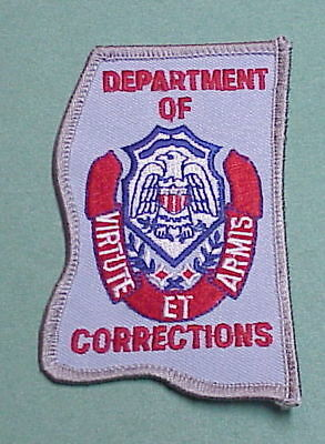 Mississippi  Department Of Corrections  ( State Shape )   Police Patch
