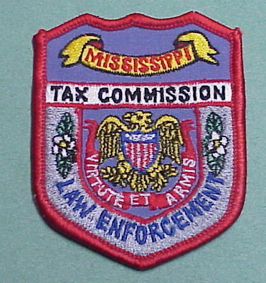 Mississippi  Tax Commission  Law Enforcement  Police Patch   Free Shipping!!!