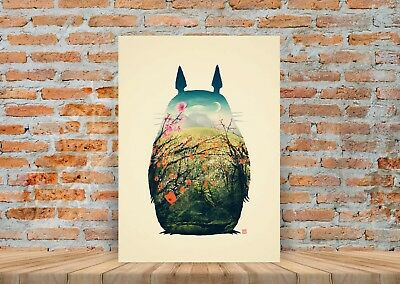 My Neighbor Totoro Anime Movie Poster or Canvas Art Print - A3 A4 Sizes