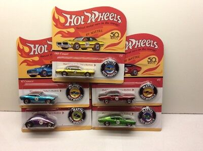 NEW Hot Wheels 50th Anniversary Originals Redlines Complete Set of 5 Cars