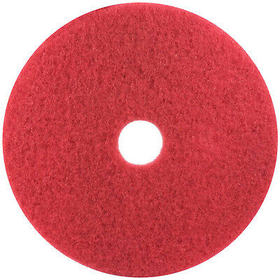 "Boardwalk Standard 21"" Red Buffing Floor Pads 5 Pads BWK4021RED"