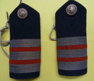 Pair Of Ww2 British Officer - Merchant Navy Shoulder Boards #fi521