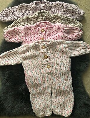 Hand knitted/crochet baby onsie/romper/all in one/baby gro-supersoft wool