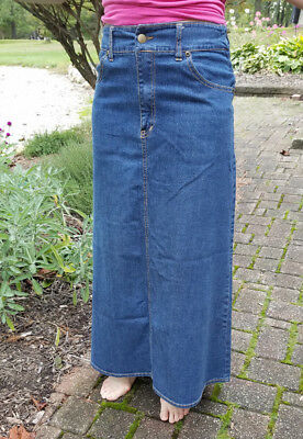 cb177f2d7 Kosher Casual Women's Modest Long A-Line Maxi Denim Skirt - No Slits size  Small
