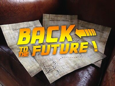 Back to the Future 3 Letter Emmett Brown Delorean 1885 McFly Map to Time Machine