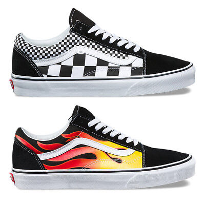 Vans Old Skool Mix Checkerboard or Vans Flame Trainers - Classic Shoes - BNIB