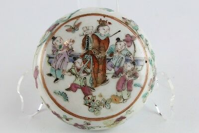Old Chinese Round Porcelain Seal Paste Container