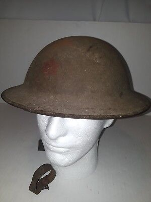 WW1 6th Infantry Division Helmet Painted with Red Star Insignia Textured Finish