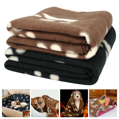 Soft Fleece Cat Dog Blankets Winter Warm Washable Bed Mat Cushion for Chihuahua