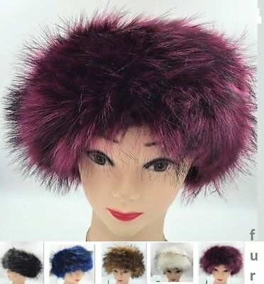 Warm Winter Ski Headband Soft Faux Fur Cossack Design Fuzzy Fashion New