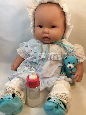 """Vintage Berenguer 20"""" Cloth and Vinyl Baby Doll Dress Bloomers Bottle Plush Toy!"""