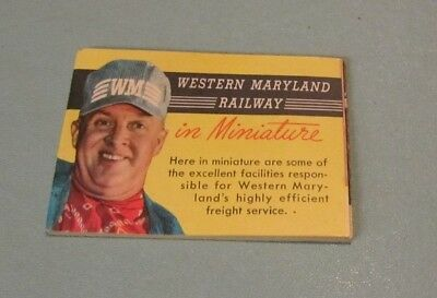 1950's Western Maryland Railway in Miniature Foldout Railroad Train Brochure