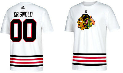 0ad102a87 Clark Griswold Christmas Vacation Chicago Blackhawks Movie Hockey T-Shirt