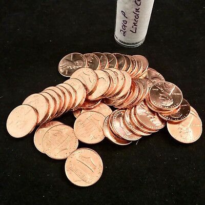 2010P Lincoln Shield Cent Penny Roll Uncirculated