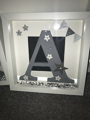 personalised box picture frame new baby christening gift present