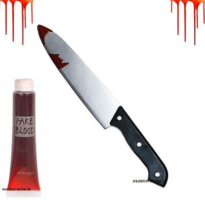 Friday The 13th Michael Myers Halloween Clown Kitchen Knife & Blood Fancy Dress