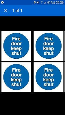10 Fire Door Keep Shut Stickers ALMOST GONE WITH FREE POSTAGE