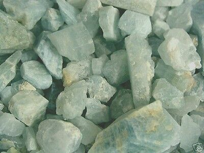 Aquamarine crystal Afghanistan bigger pieces 1/2-2 inch 1/4 pound 3-20 pieces