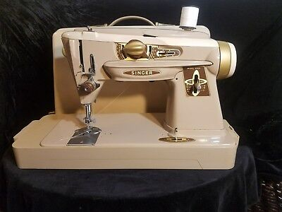 VINTAGE 40S SINGER 40A Rocketeer SlantOMatic Sewing Machine All Cool Matic Sewing Machine