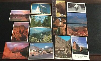 LOT OF 14 POSTCARDS  OF WESTERN LANDSCAPES, Colorado, Wyoming, Arizona, more