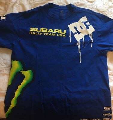huge selection of 9aedc 4ffb9 ... Men  Subaru Rally Team x DC Shoes Volcano SRT  Ken Block DC Shoes Subaru  Monster Energy t-shirt Size Large ...