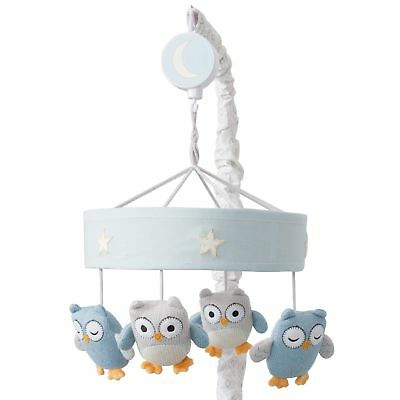 Lambs & Ivy Happi by Dena™ Night Owl Musical Baby Crib Mobile - Blue, Gray