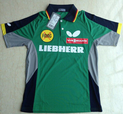 SHIRT; GERMANY BUTTERFLY Table Tennis Shirt with LOGO Size 4XL (sizes run small)