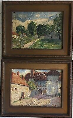 Circle of Alfred Sisley vintage 1897 French American Impressionism Oil Paintings