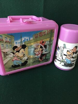 Aladdin Disney Mickey and Minnie Mouse Plastic Lunch Box & Thermos