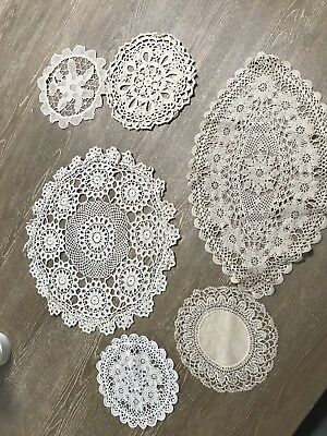 Vintage Collection of Lace Crochet Style Doilies