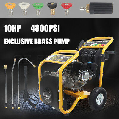 4800 PSI High Pressure Cleaner Washer 10 HP Water Petrol Gurney Pump30M Hose AU