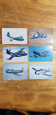 """1952 F270-1 Carnation Corn Flakes """"Airplane Spotters Cards"""" (6)"""