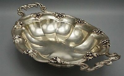 ANTIQUE CONTINENTAL SILVER CENTERPIECE BOWL REPOUSSE, C 18th CENTURY