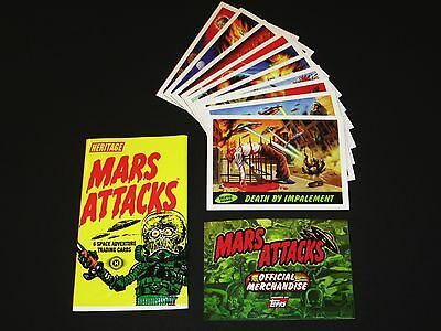 MARS ATTACKS © 2012 Topps Deleted Scenes Chase Insert Card Set + Wrapper + Adver
