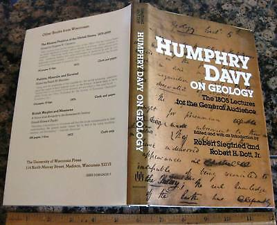 HUMPHRY DAVY ON GEOLOGY - The 1805 Lectures for the General Audience 1980 Mines