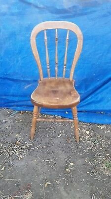 Tell City vintage Hard Rock Maple Farmhouse youth child Chair Andover